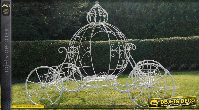 Porte plantes de charme le carrosse de cendrillon for Decoration porte fer