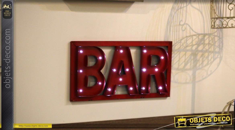 Décoration murale lumineuse : Bar