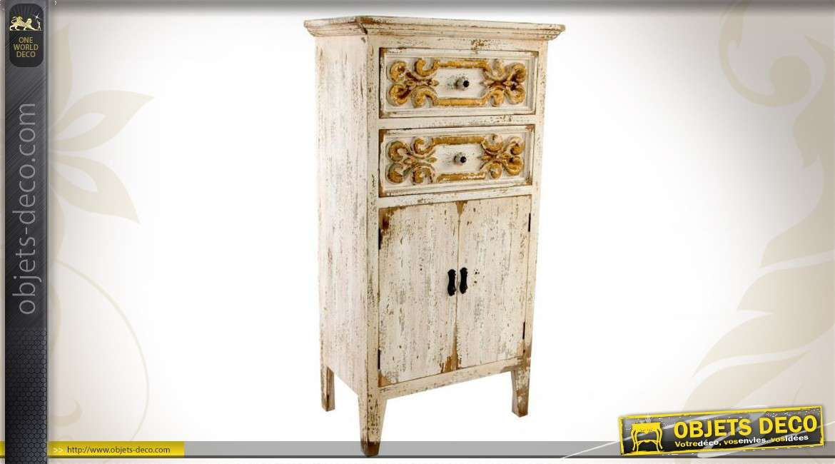 commode en bois de style ancien finition patin e. Black Bedroom Furniture Sets. Home Design Ideas