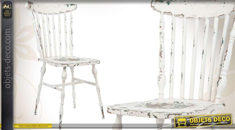 Chaise dossier crois en bois massif - Chaises de style ancien ...