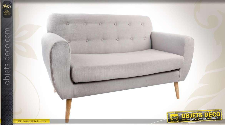 canap 2 places de style scandinave. Black Bedroom Furniture Sets. Home Design Ideas