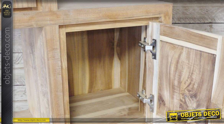 Meuble de biblioth que en bois massif finition naturelle for Finition de meuble en bois