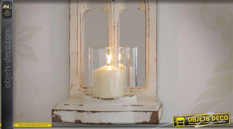 Miroir mural en forme de fen tre avec photophore - Deco avec miroir mural ...