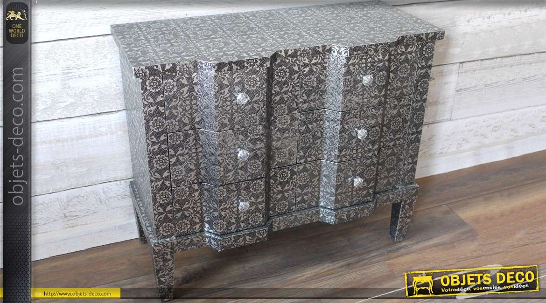 commode arbal te en m tal emboss 6 tiroirs. Black Bedroom Furniture Sets. Home Design Ideas