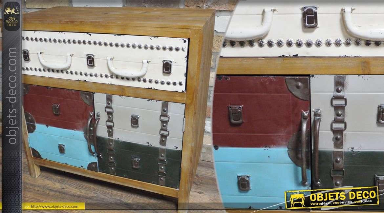 Buffet déco en bois et en métal coloris divers