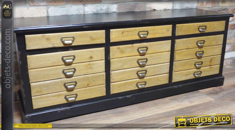 Meuble de rangement de style vintage en bois for Catalogue de meuble en bois