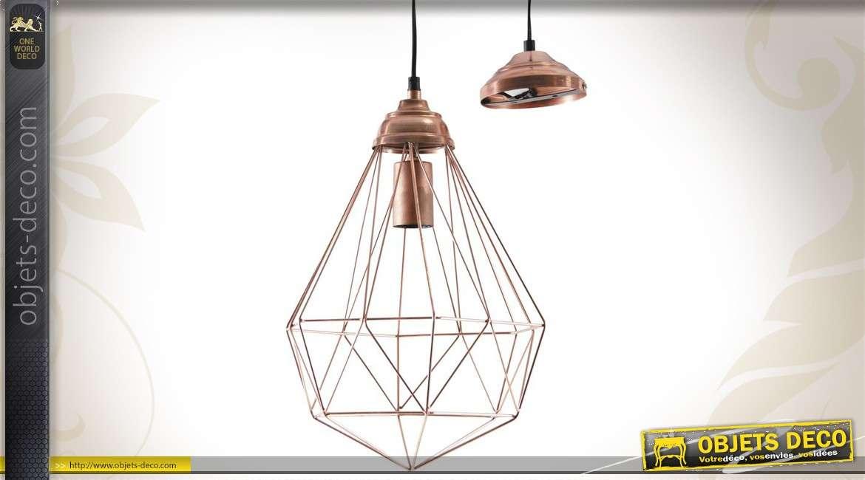 suspension de style r tro et industriel trois r flecteurs. Black Bedroom Furniture Sets. Home Design Ideas
