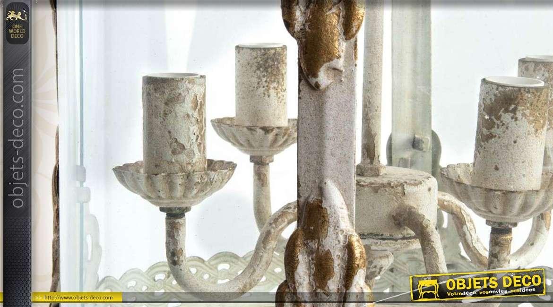 suspension lanterne de style ancien en m tal vieilli et en. Black Bedroom Furniture Sets. Home Design Ideas