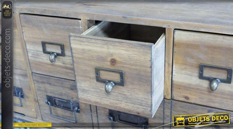 Meuble d 39 appoint en bois et en m tal de style r tro for Meuble style retro