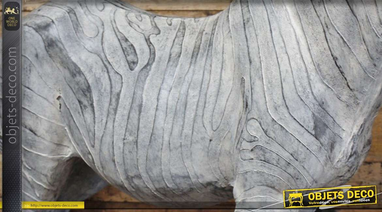 Grande statuette décorative de zèbre