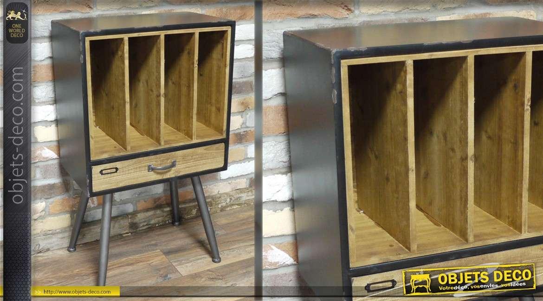 meuble de rangement d 39 appoint de style indus. Black Bedroom Furniture Sets. Home Design Ideas