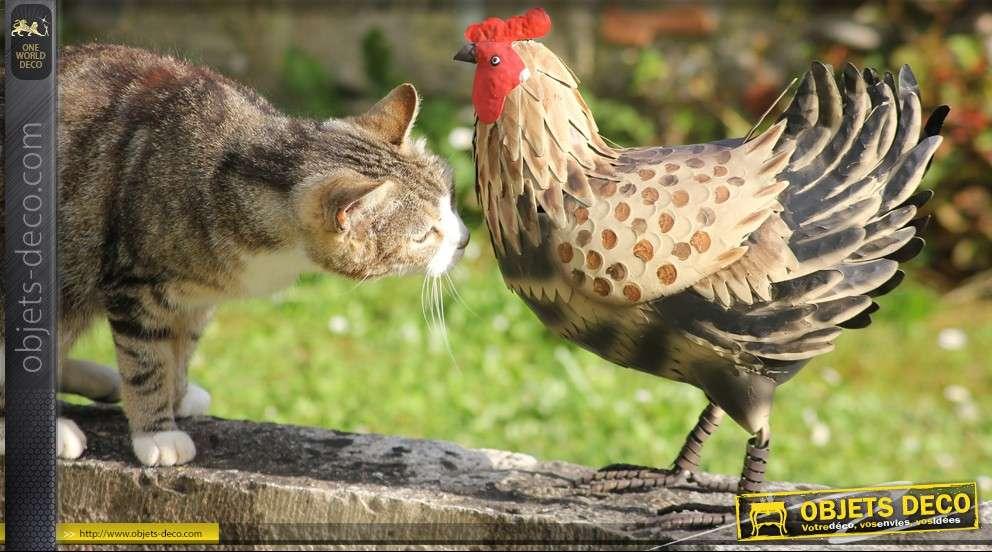 Poule d corative en m tal peint - Poule decorative pour cuisine ...