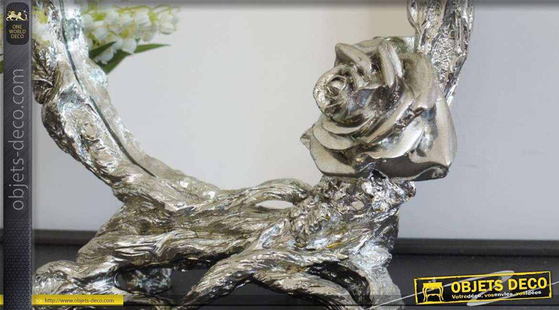 miroir de table argent de style romantique. Black Bedroom Furniture Sets. Home Design Ideas