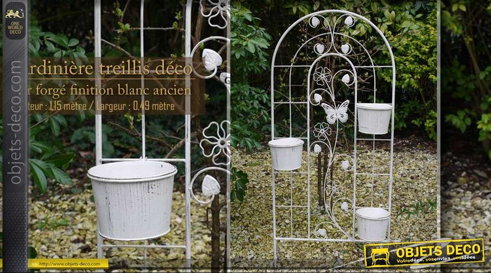 Jardini re treillis en fer forg for Catalogue deco jardin