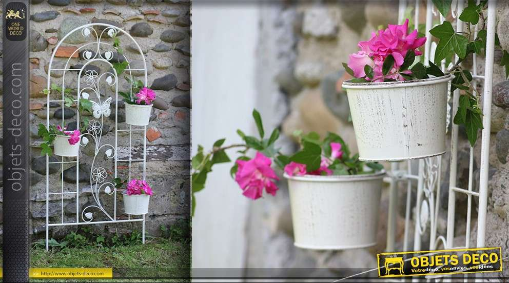 Jardini re treillis en fer forg for Deco jardin claustra