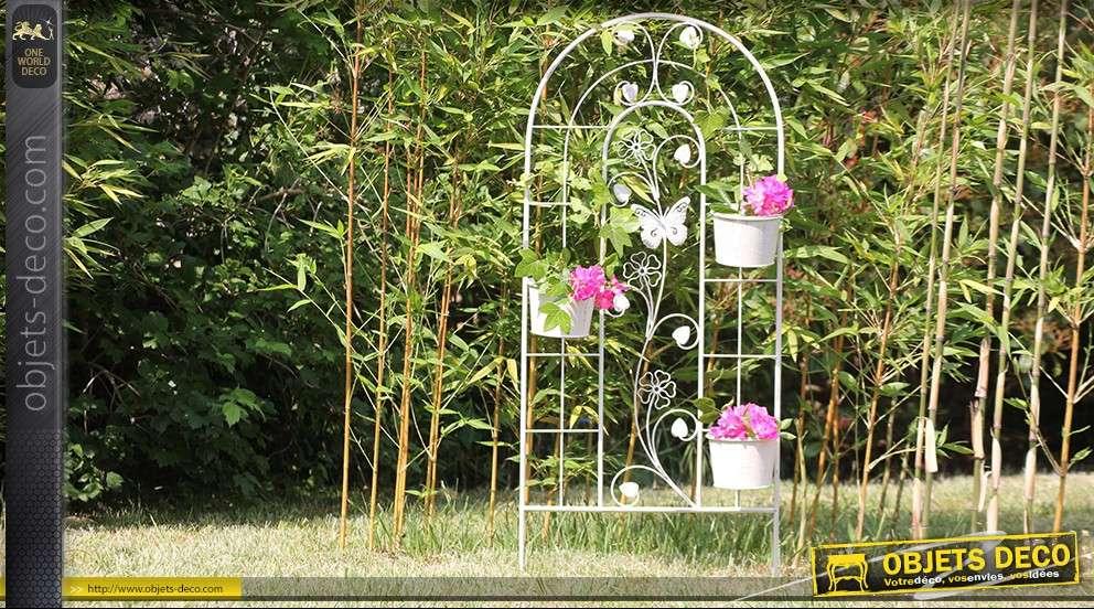 jardini re treillis en fer forg. Black Bedroom Furniture Sets. Home Design Ideas