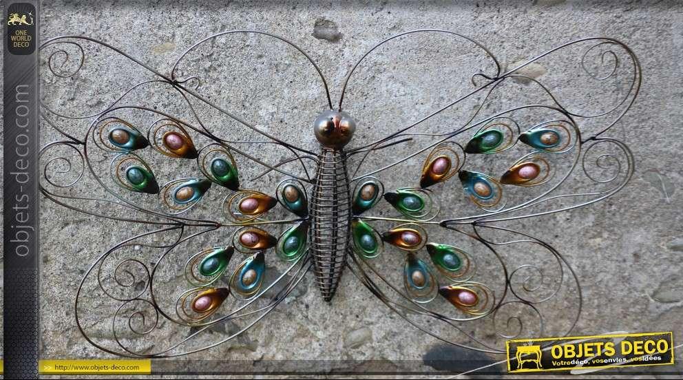 Papillon décoratif mural en fer forgé