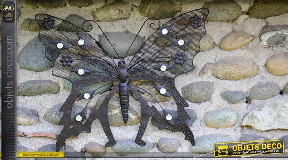 papillon mural en fer forg. Black Bedroom Furniture Sets. Home Design Ideas