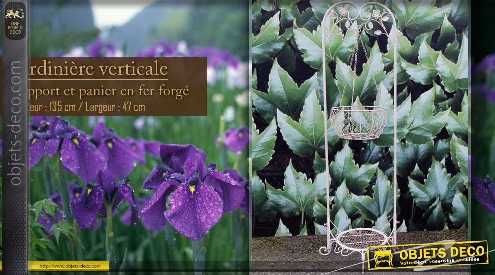 Jardini re verticale avec panier - Jardiniere verticale ...