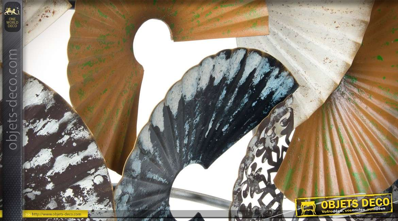Grande fresque murale abstraite en métal 148 cm