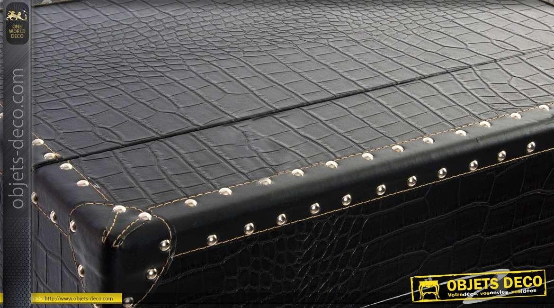 Meuble cave porte-bouteilles de style industriel coloris noir