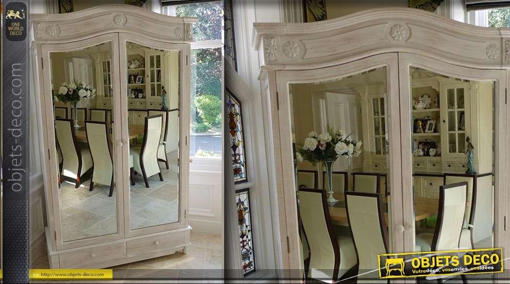Armoire garde robes avec portes en miroir - Garde robe porte coulissante belgique ...