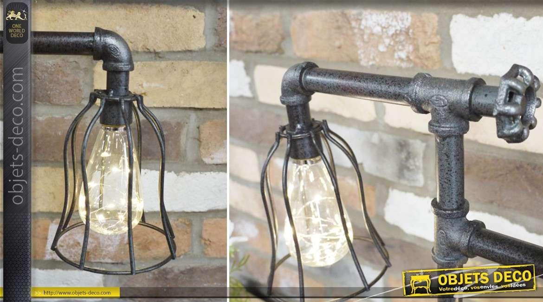Lampe à poser de style plomberie industrielle LED à filaments 52 cm