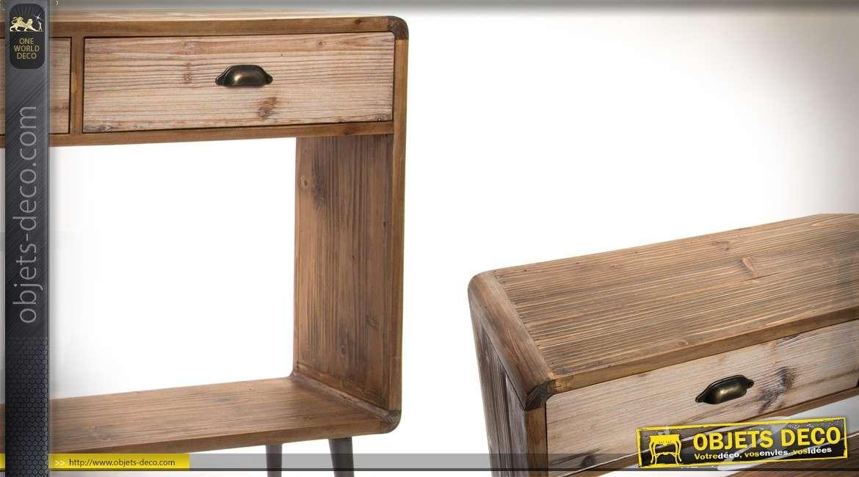 Console en bois et métal style Scandinave moderne