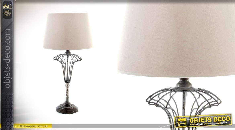 Et Chrome Avec Salon Rétro Lampe Effet De Pied Style Cristal wkOPX8n0