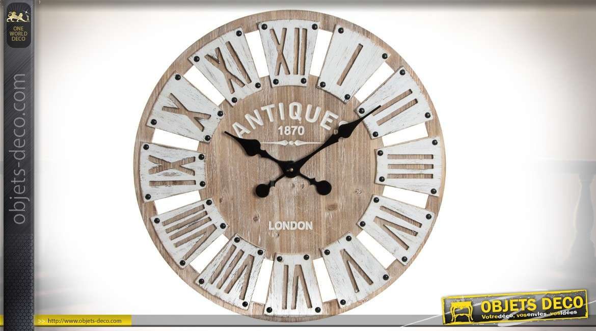 horloge murale en bois 60 antiquit s londoniennes 1870. Black Bedroom Furniture Sets. Home Design Ideas