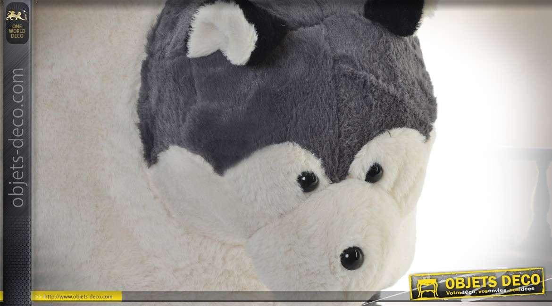 Repose-pieds en bois - Collection Anima'pouf - Le Husky