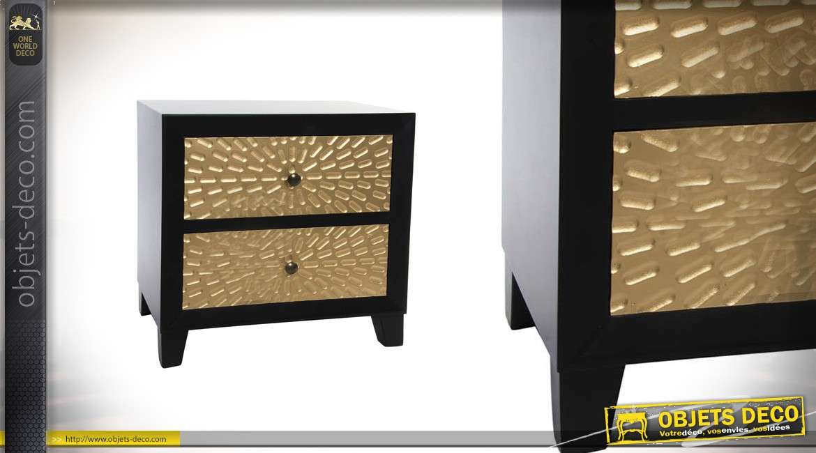 table de chevet collection golden eye 60 cm de haut. Black Bedroom Furniture Sets. Home Design Ideas