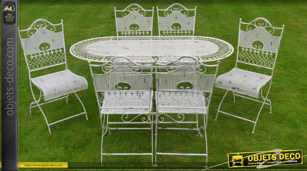 Awesome grande table de jardin en fer gallery - Jardin de luxe ...
