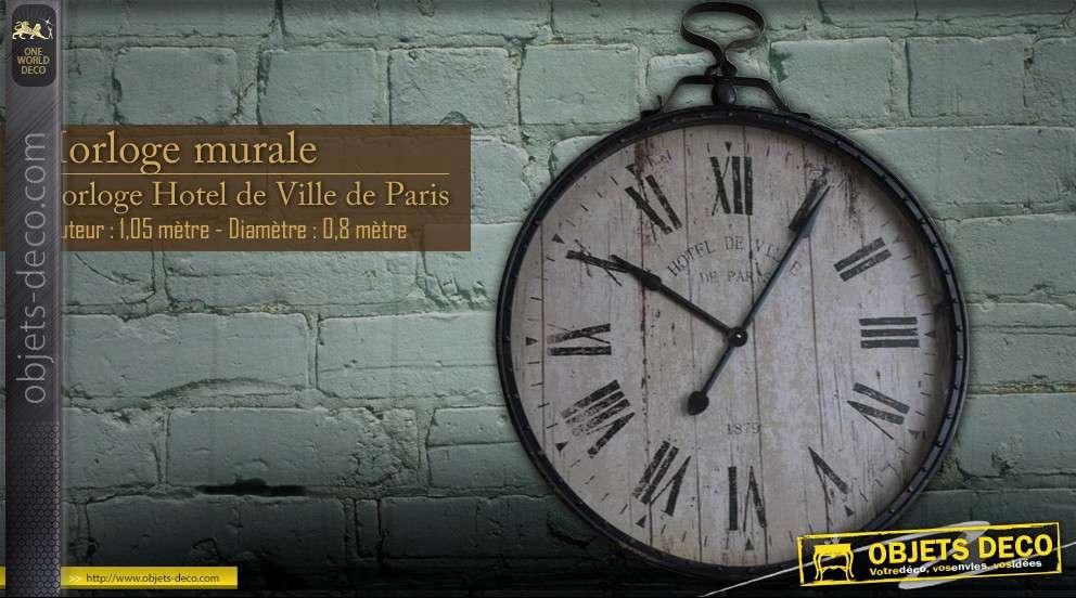 Horloge g ante murale ancienne ville de paris for Horloge murale geante ancienne