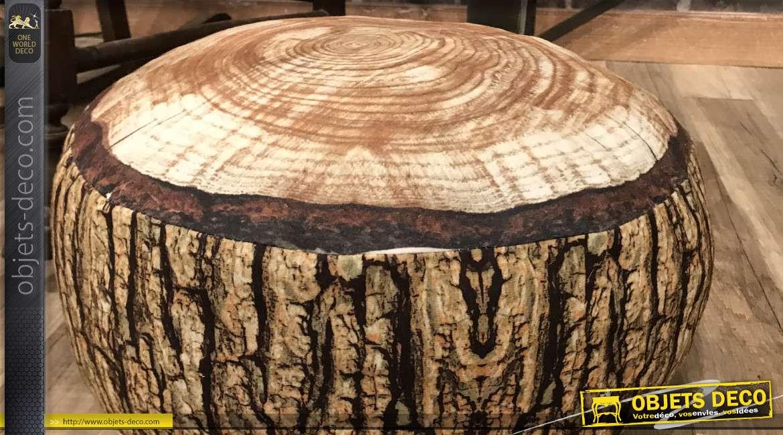 Coussin de sol / pouf bas en forme de tronc d'arbre circulaire Ø 40 cm