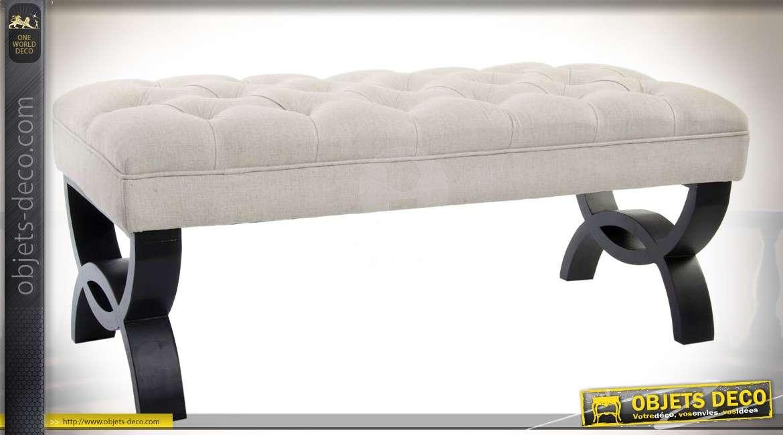 banc d 39 int rieur en m tal et similicuir marron style. Black Bedroom Furniture Sets. Home Design Ideas