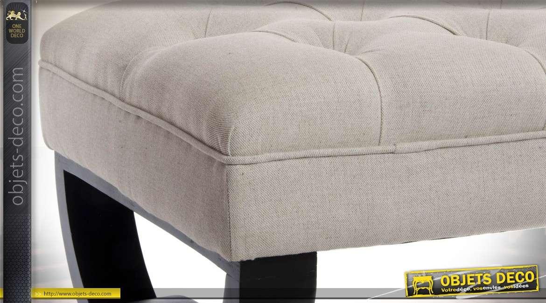 banc d 39 int rieur design en bois et lin capitonn coloris. Black Bedroom Furniture Sets. Home Design Ideas
