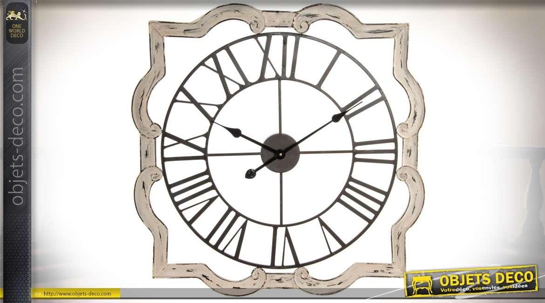 horloge murale originale en bois et m tal style r tro 70 cm