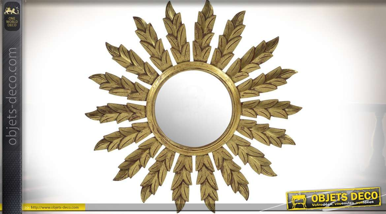 miroir rond en bois awesome miroir mural rond en bois cm. Black Bedroom Furniture Sets. Home Design Ideas
