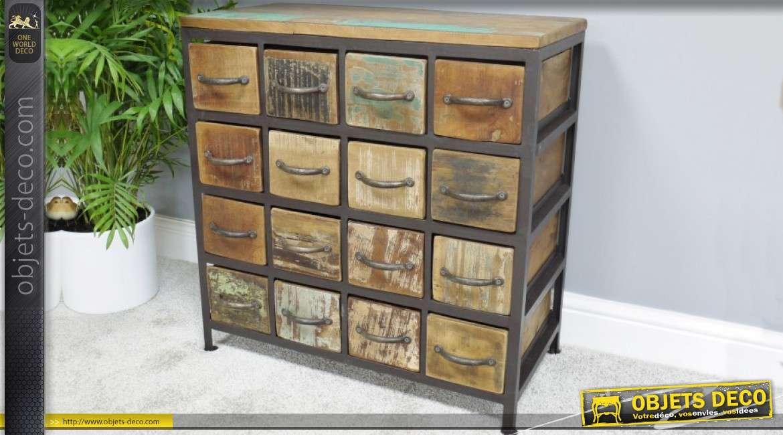 Petit meuble de rangement à 16 tiroirs style rétro et ...