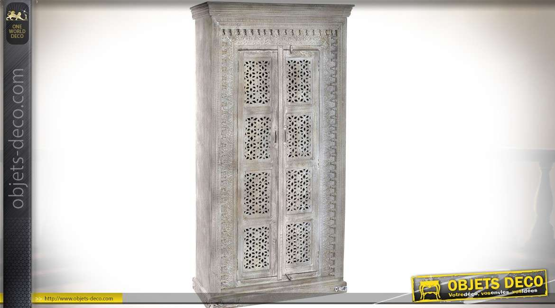 paravent 3 volets effet fen tr en bois finition blanc. Black Bedroom Furniture Sets. Home Design Ideas