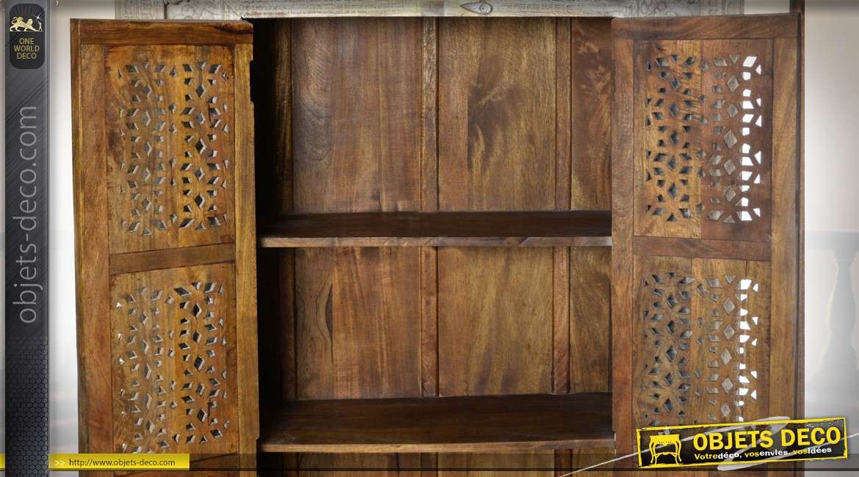 armoire en manguier de style indien patine blanchie 2. Black Bedroom Furniture Sets. Home Design Ideas