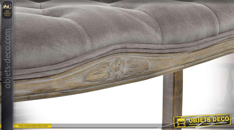 banquette bout de lit inspiration louis xv en h v a tissu. Black Bedroom Furniture Sets. Home Design Ideas