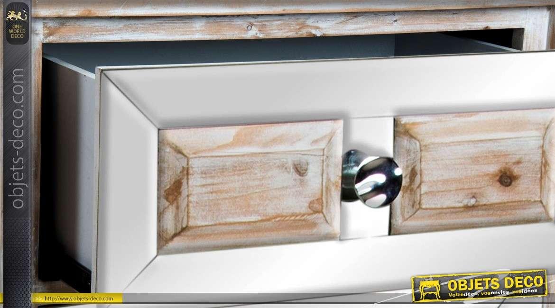 Chiffonnier bois et miroirs de style scandinave avec 4 tiroirs