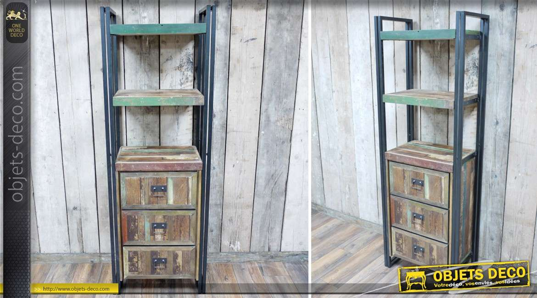 meuble tag re biblioth que vertical avec caisson 3. Black Bedroom Furniture Sets. Home Design Ideas