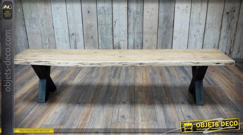 banc design en forme de chien imitation pierre grise 148 cm. Black Bedroom Furniture Sets. Home Design Ideas
