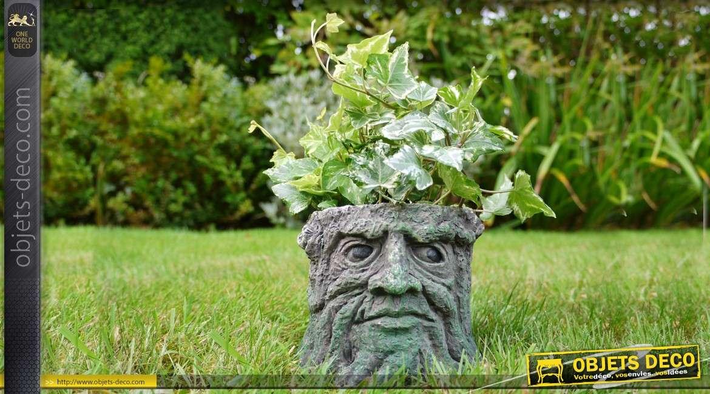 Pot jardinière en résine en forme de souche d'arbre andromorphique