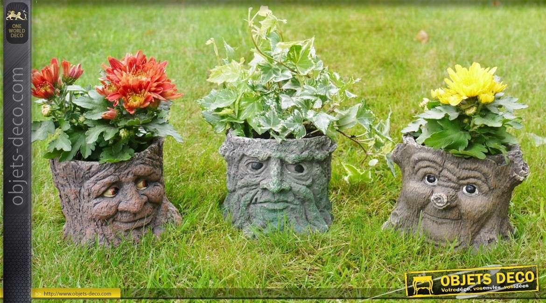 Pot De Fleur Jardiniere En Forme De Souche D Abre Personnage Conte D