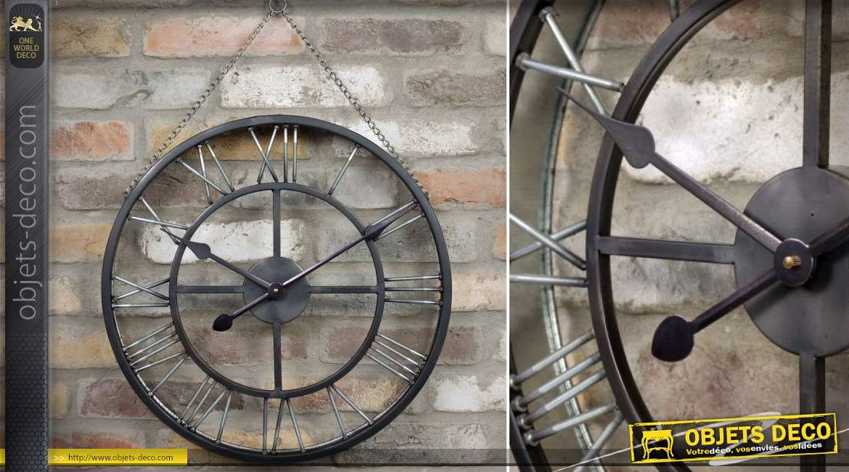 Grande cage oiseaux sur pied coloris blanc 110 cm for Horloge en fer forge noir