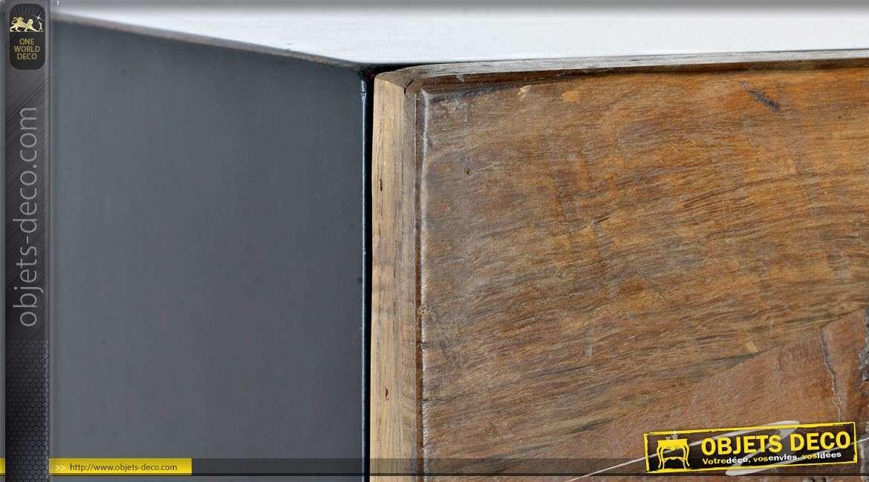 Armoire en bouleau de style rustique à deux portes 160 cm